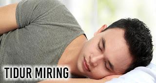 Tidur miring Untuk mencegah atau mengurangi dengkur
