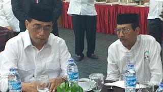 Ketua DPW MCMI NTB bersama ketua dewan pembina MCMI pusat Budi Karya Sumadi