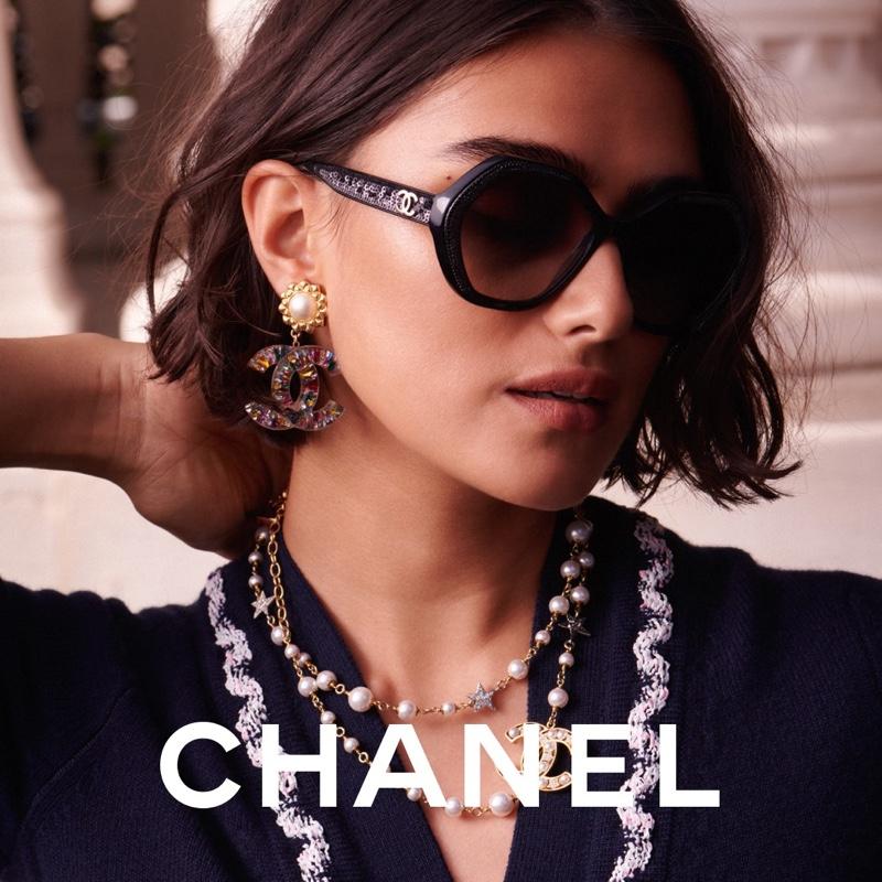 Jill Kortleve stars in Chanel Eyewear 2021 campaign.