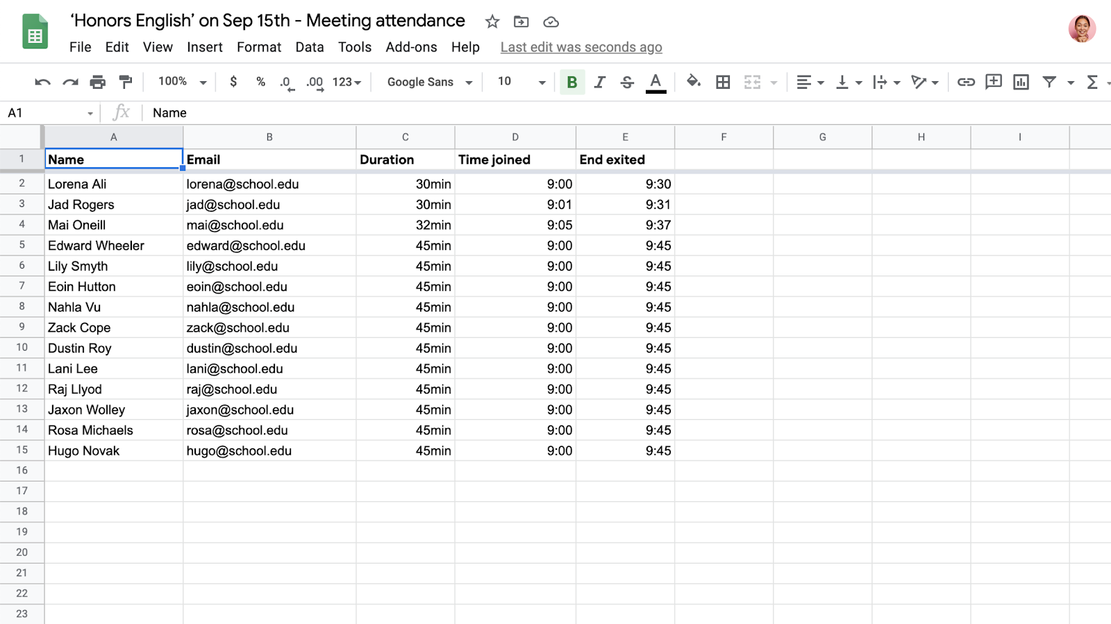 Google Meet attendance reports now available to G Suite Enterprise for Education meetings