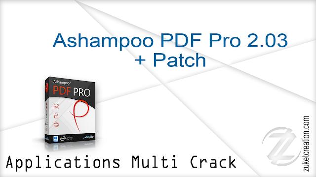 Ashampoo PDF Pro 2.03 + Patch    |  304 MB