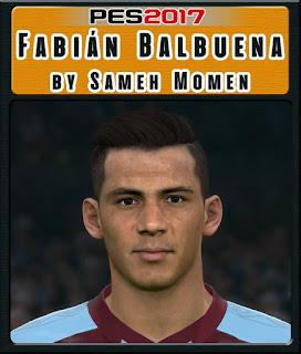 PES 2017 Faces Fabián Balbuena by Sameh Momen