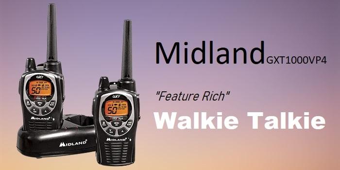 """Midland GXT1000VP4 - Best """"Feature Rich"""" Walkie Talkie [under $100]"""