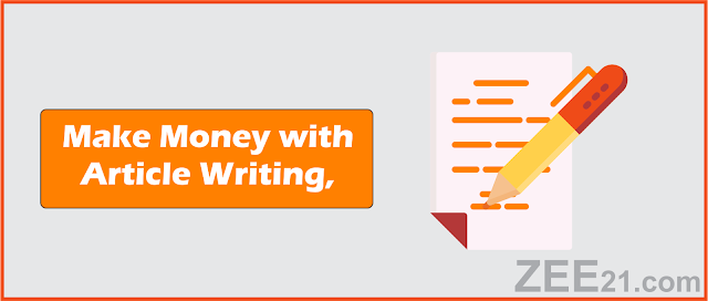 Make Money Online  with article writing