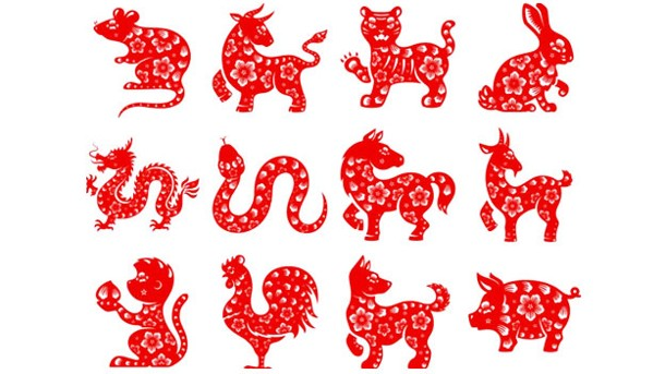 El horóscopo chino esta representado por animales