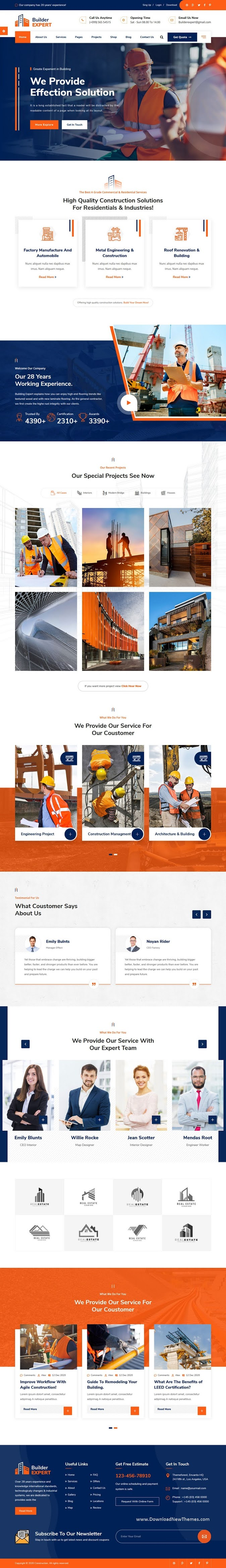 Construction and Architecture HTML Template