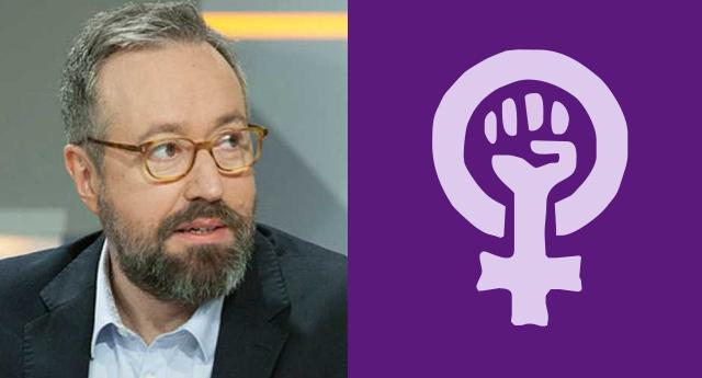 Girauta insulta a un grupo de manifestantes tras el éxito de la cadena feminista en Madrid