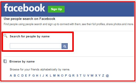 can you search facebook without account