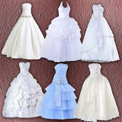 American Bride Wedding Dresses Clipart