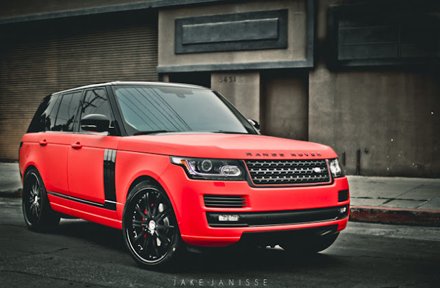 The Battle of the Matte Red Range Rovers: Ultimate Auto ...