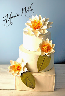 waterlily wedding cake topper