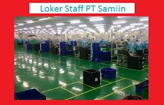 Loker SMA SMK Wanita Bagian Staff PT Samjin Indonesia Tahun 2020