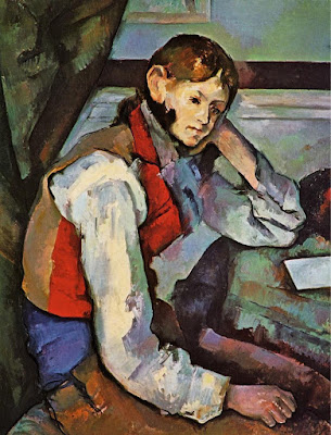 I colori terziari - Blog artistah24.it - Paul Cezanne - Giovane col panciotto rosso