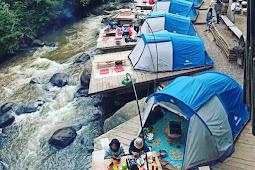 Wisata alam pineus tilu tempat Camping di tepian sungai palayangan
