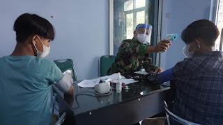 Anak Keluarga Besar TNI  Kodim Pekalongan Diberikan Vaksinasi