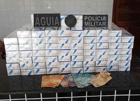 CONDUTOR DE VEÍCULO É PRESO PELA POLÍCIA MILITAR COM CONTRABANDO DE CIGARRO EM CHAPADINHA
