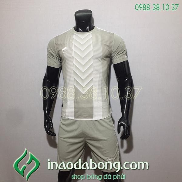 Áo bóng đá kp logo Zuka TV màu xám