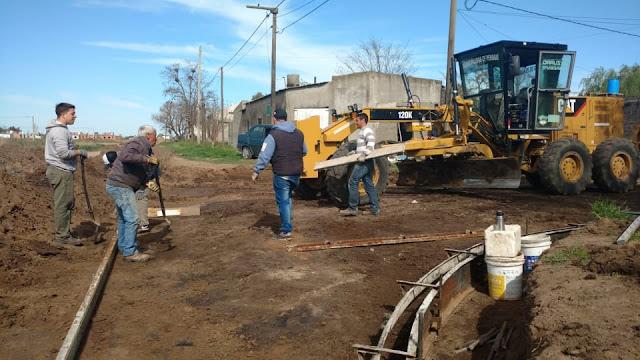 Obras Públicas: Se comenzó a pavimentar una nueva cuadra