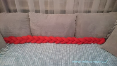 poduszka warkocz