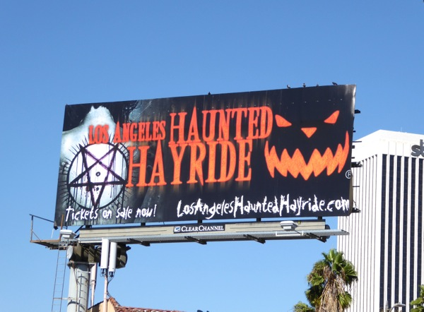 Los Angeles Haunted Hayride Halloween 2016 billboard