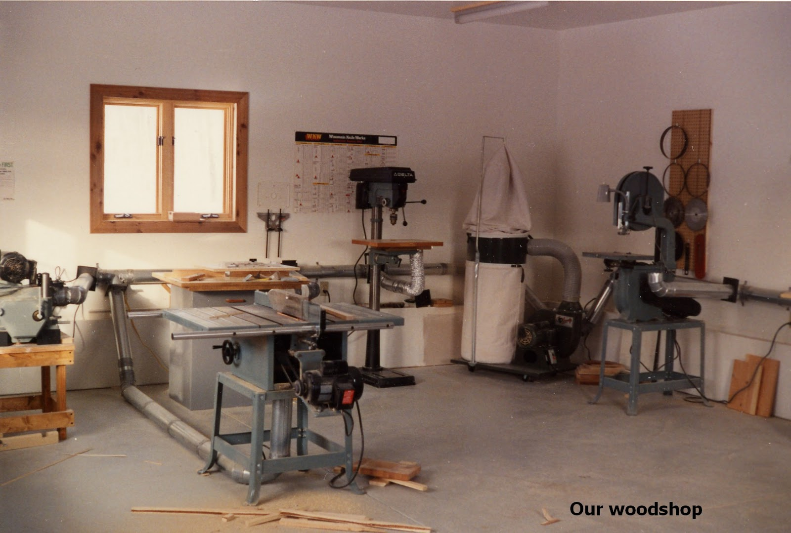 Poland Our Future The Wood Shop Woodshop When Roofing Was All Done I Put Plywood Sheets Over Outside Insulation In Walls And Ceiling Hired 2 Men To Up Gypsum Board