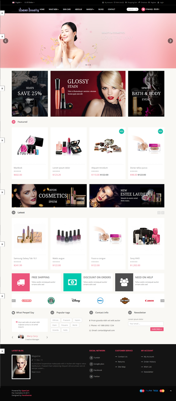 Clearshop  Responsive OpenCart