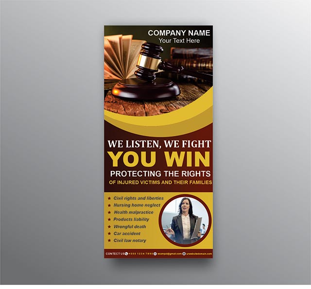 Lawyer Banner Design Template free vector Image PSD and Cdr file Download