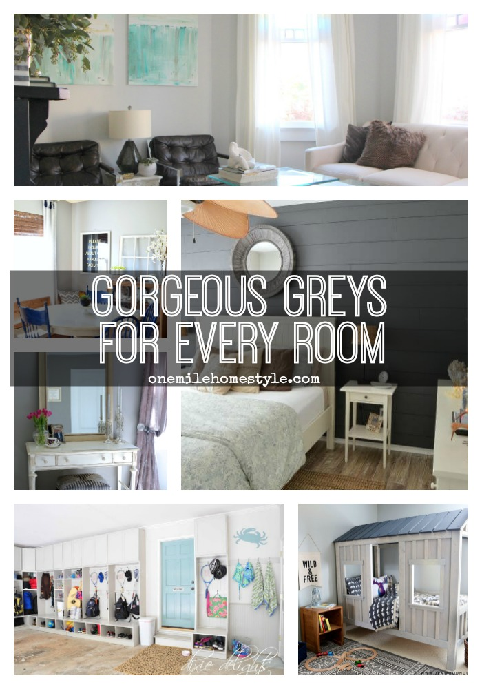 Tired of plain white walls? This is an AMAZING round-up of gorgeous grey rooms, for every room in your home! - One Mile Home Style