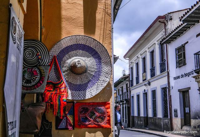 Loja de artesanato em La Candelaria, Bogotá