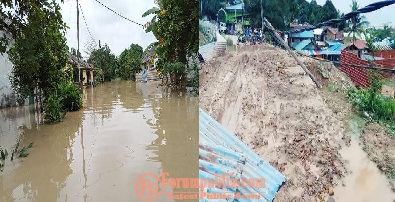 Warga Geram, Dapat Banjir Kiriman dan Akses Jalan Tanjung Uma Putus Akibat Lumpur Kegiatan Proyek PT CDHA