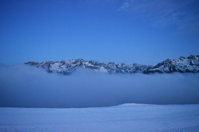 trentino ski sunrise alba lagorai