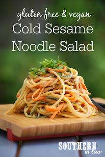 Gluten Free Cold Sesame Noodle Salad Recipe