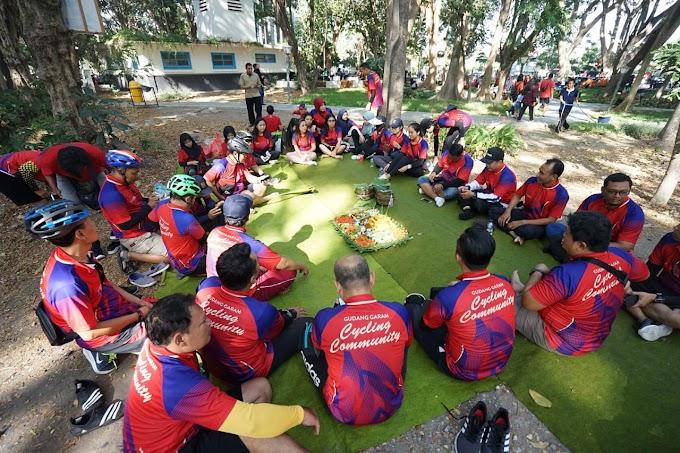 Peringati 1 Tahun, Gudang Garam Cycling Community (GGCC) Gelar Tasyakuran Di Hutan Joyoboyo