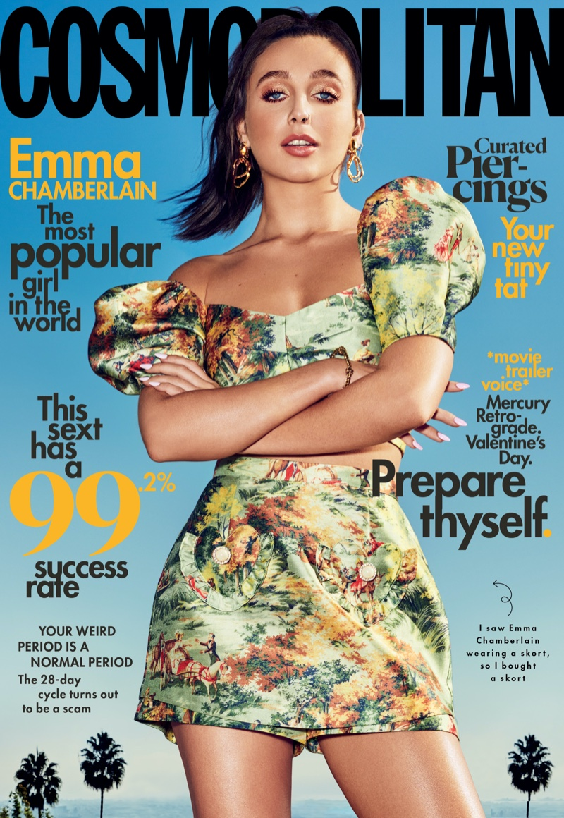Emma Chamberlain is a Fashion Plate for Cosmopolitan Magazine