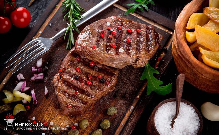 Бифштекс барбекю с ромом