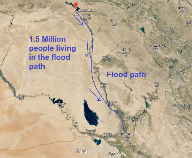 Giant tsunami wave threatens 1.5 million people as Iraqi dam falls into disrepair Untitled