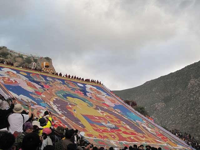 西藏雪頓節展佛大典