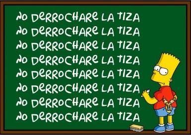 Resultado de imaxes para Bart simpson en el collegio