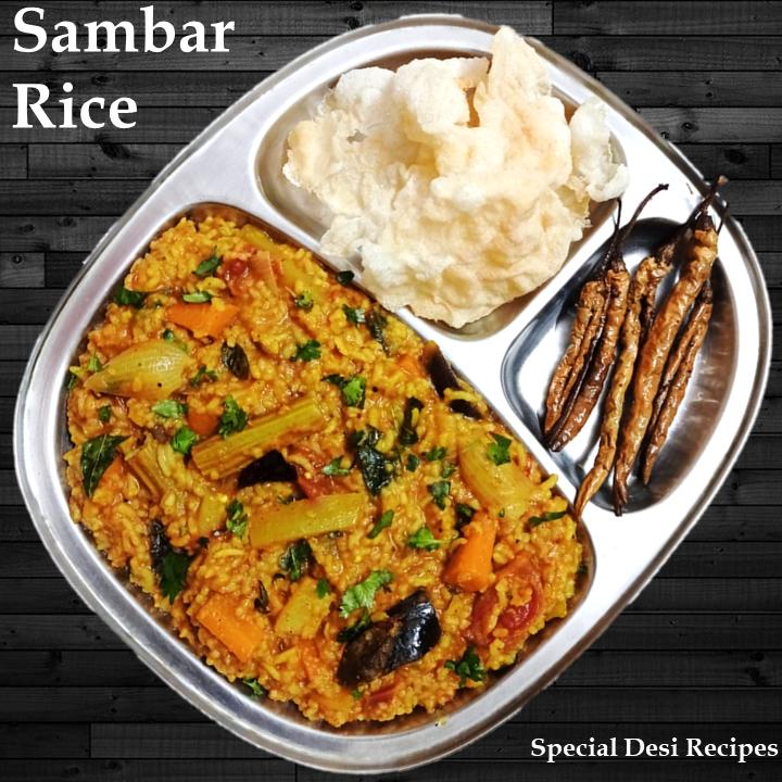 hotel style sambar rice special desi recipes
