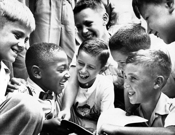 #3 Charles Thompson Greets His New Classmates At Public School No. 27 In September 1954, Less Than Four Months After The Supreme Court Ruled That Racial Segregation Was Unconstitutional. Charles Was The Only African-American Child In The School. Photo By Richard Stacks For The Baltimore Sun