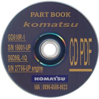 DG510R-1 Parts book komatsu motor grader