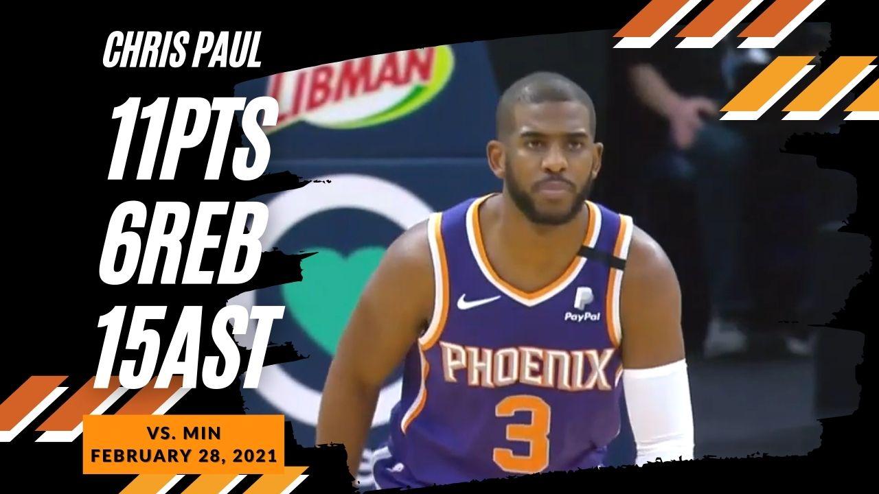 Chris Paul 11pts 6reb 15ast vs MIN   February 28, 2021   2020-21 NBA Season