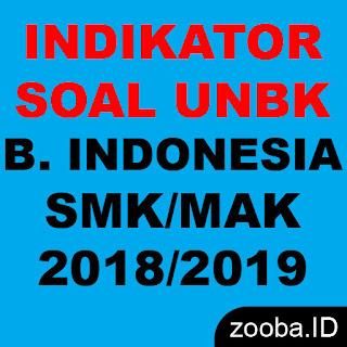 Indikator UNBK Bahasa Indonesia SMK 2019