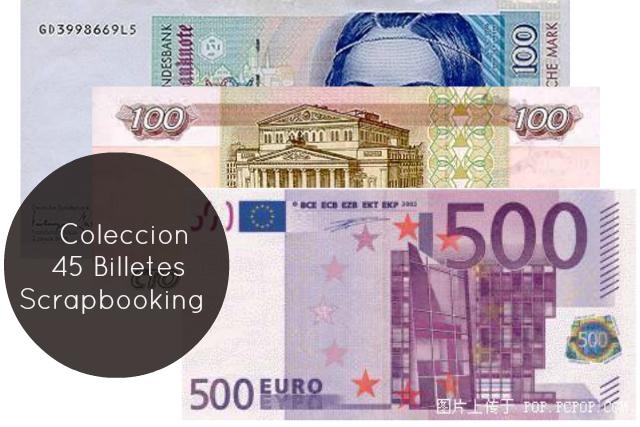 45 Billetes-Dinero-Coleccion Scrapbooking