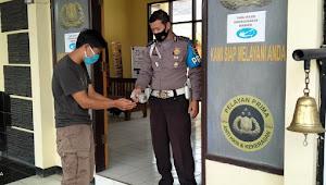 Kanit Provos Polsek Pangalengan Polresta Bandung Imbau Pengunjung Mako Untuk Patuhi 5M