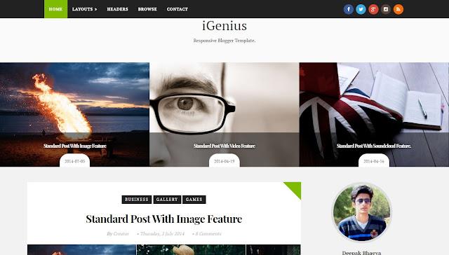 iGenius Blogger Template