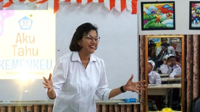 Sri Mulyani Ditanya Anak SD-SMP: Kok Menteri Keuangan Kekurangan Uang?