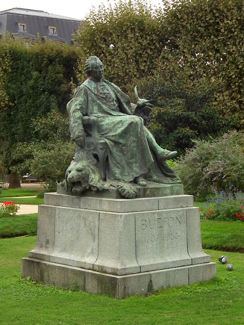 Statue of Georges-Louis Leclerc, Comte de Buffon in the Jardin Botanique de Paris. France. Photographed by Susan Walter. Tour the Loire Valley with a classic car and a private guide.