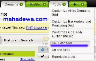 cara setting domain godaddy