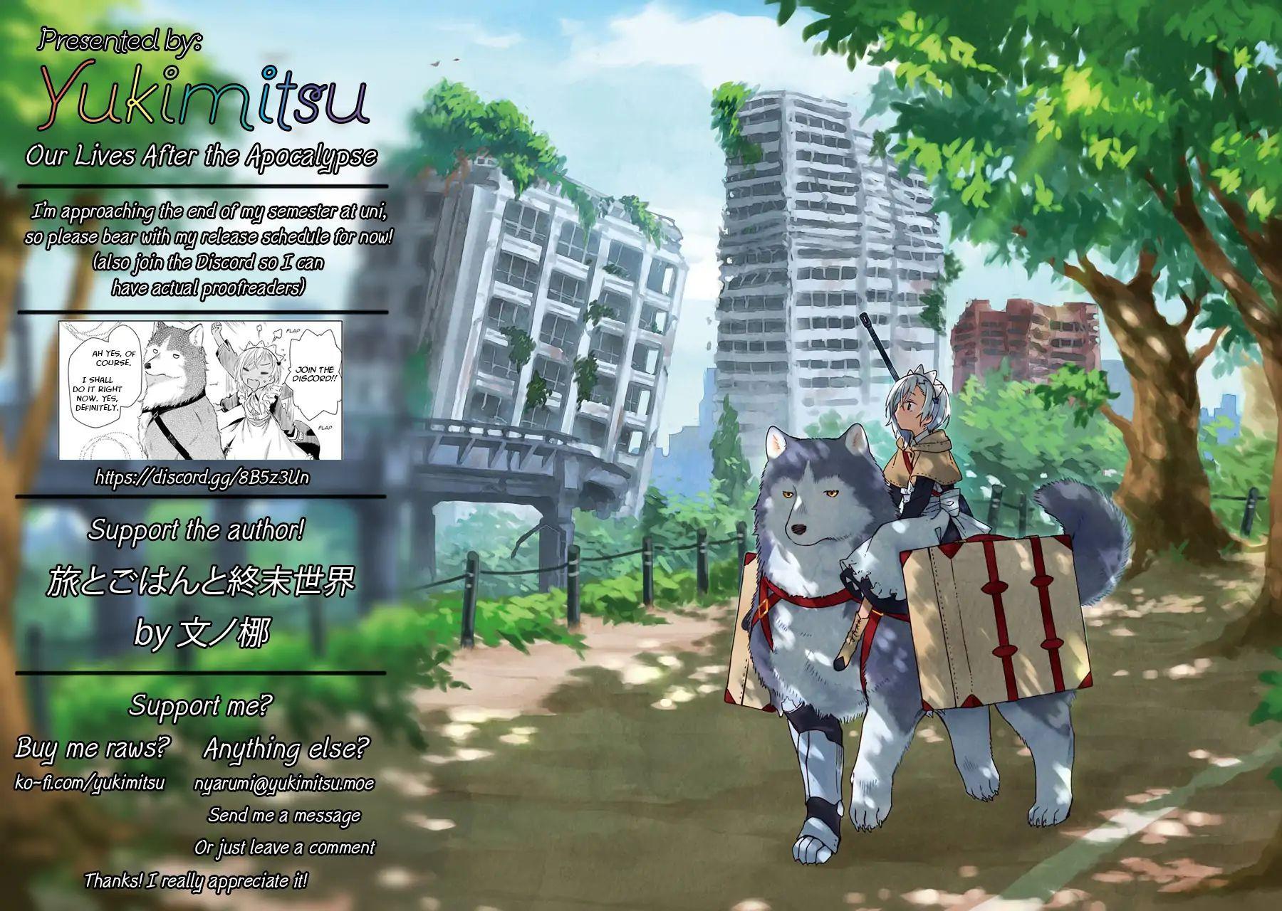 อ่านการ์ตูน Tabi to Gohan to Shuumatsu Sekai ตอนที่ 3 หน้าที่ 46